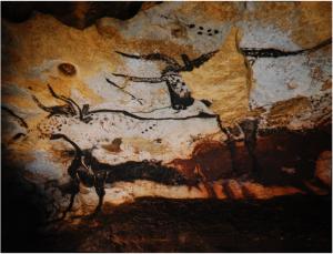 Lascaux Mağarası'nda bulunan MÖ.17300'lü yıllara ait olduğu düşünülen mağara resmi. 1979 yılında UNESCO tarafından Dünya Mirası Listesi'ne girdi. (1)